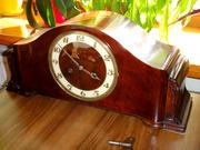 Антикварные каминные часы Junghans 1938 г. Германия