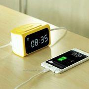 Часы-будильник и зарядное устройство c 4 USB портами,  Remax RMC-05 LED